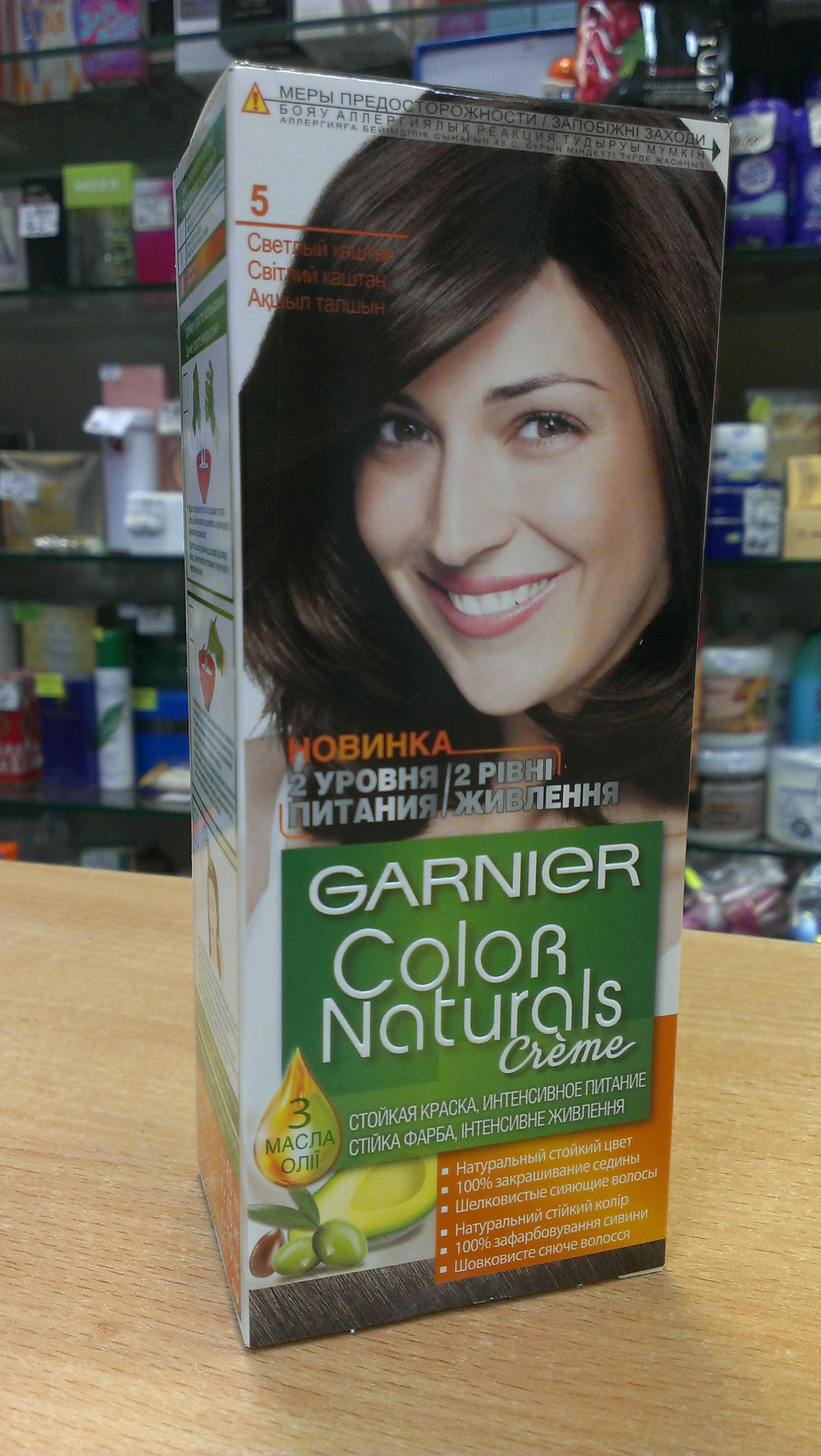 пепельно русый краска для волос гарньер