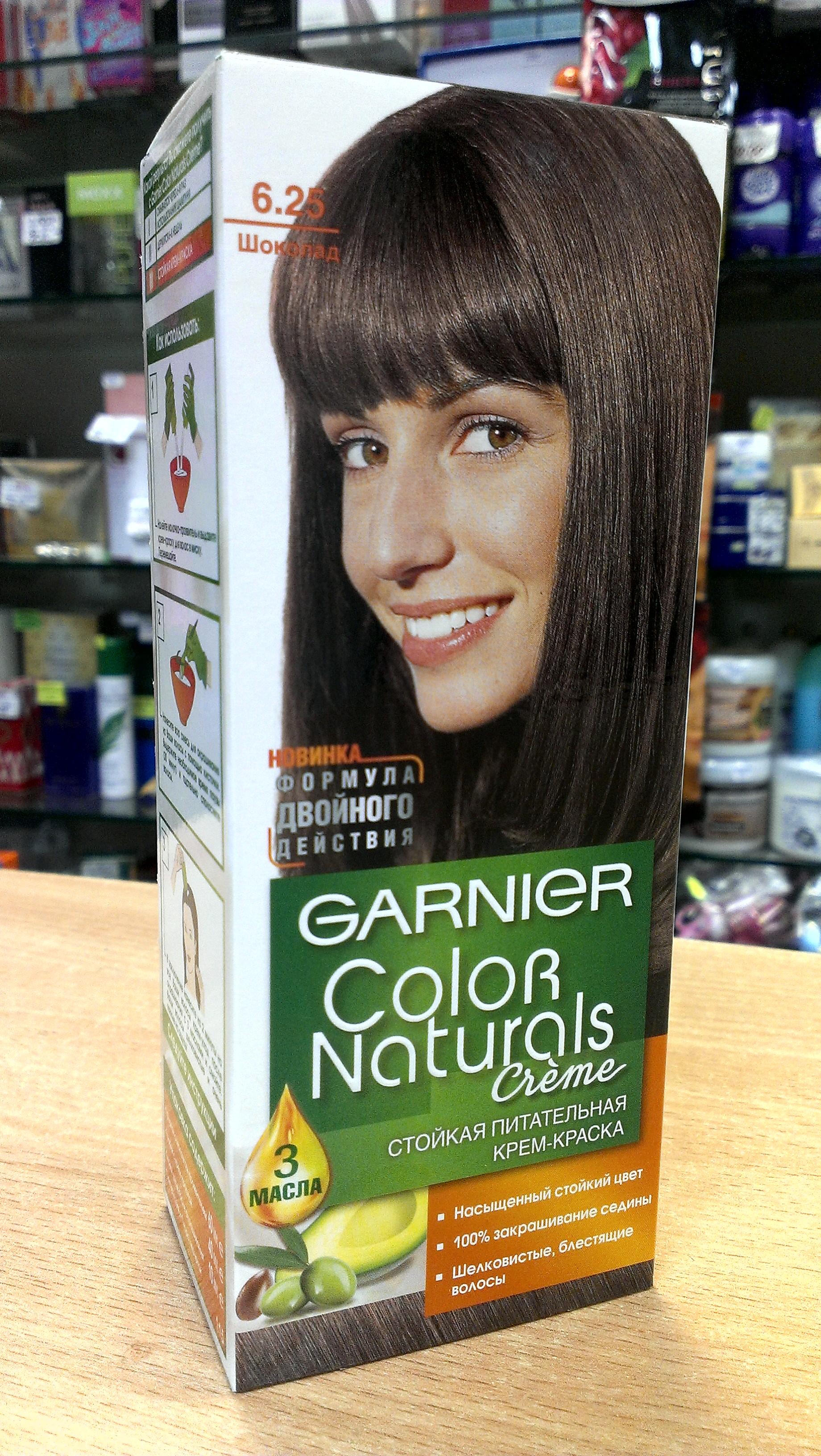 Краска для волос гарньер натуралс палитра цветов фото на волосах