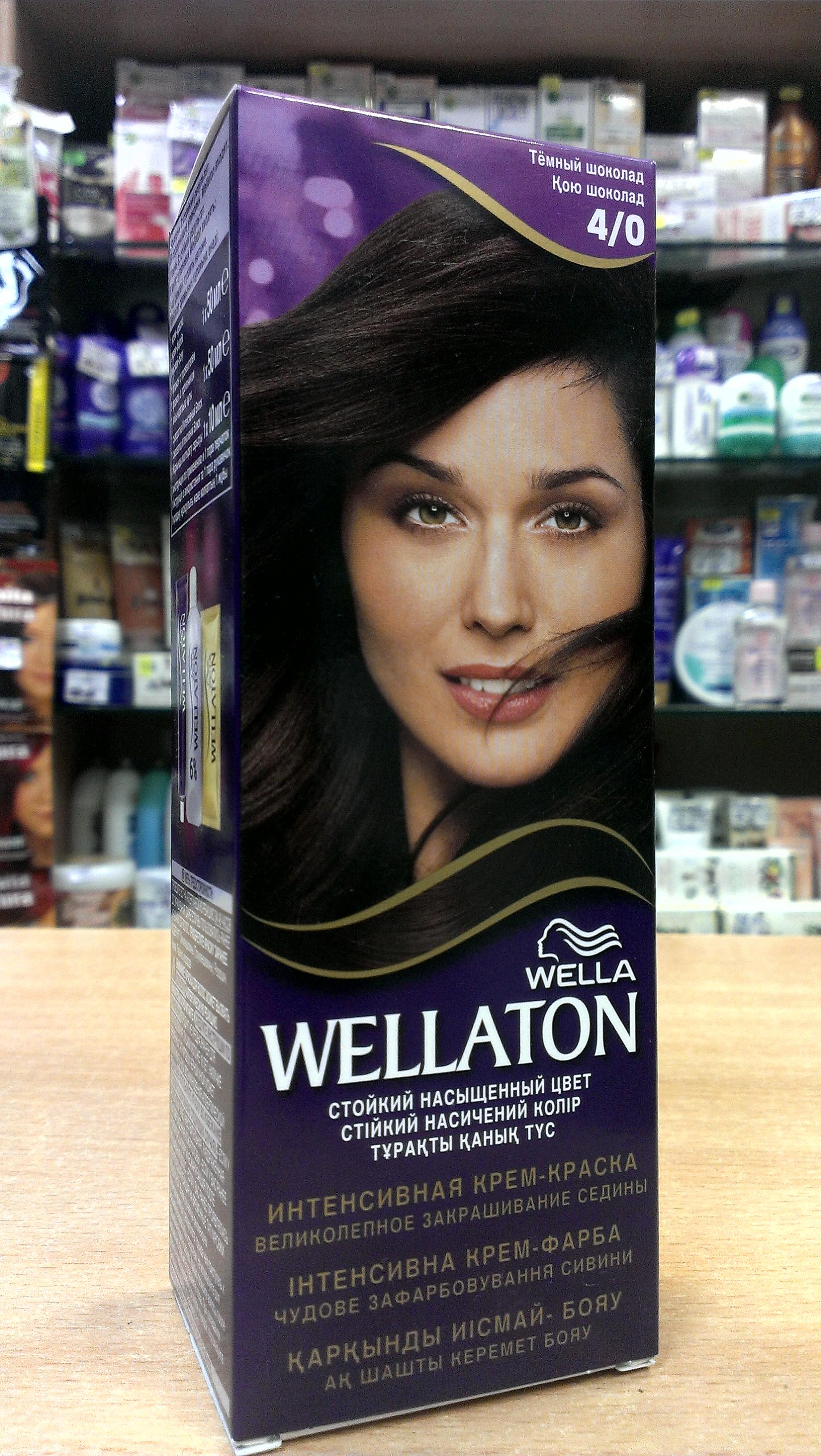 Краска для волос веллатон тёмный шоколад