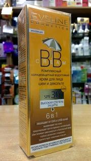 Cолнцезащитный крем для лица шеи и декольте Eveline BB Cream